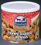 Dutch Treats Honey Toasted Cashews Made in USA 9oz. Can