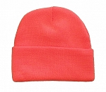 Beanie Knit Cap, Blaze Orange Color