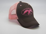 Duck Commander Cap Mesh Brown/Pink logo