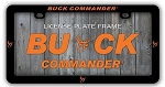 Buck Commander License Plate Frame, Orange logo