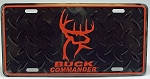 Buck Commandrer License Plate, Orange logo