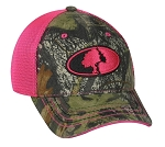 Mossy Oak Ladies Fit Mesh Back Obsession Camo & Hot Pink