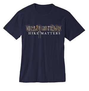 Blaze your own Trail (HIKE MATTERS) NAVY BLUE T-shirt
