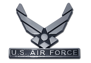 US Airforce Chrome Auto Emblem